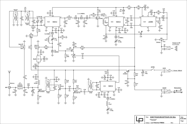 谁有40米波的收发机的电路图
